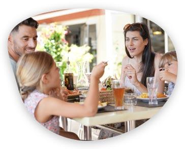 Rodina v reštaurácii